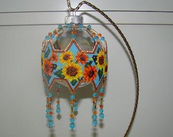 Sunflower Ornament, Fall Ornament