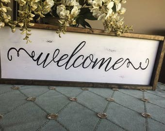 Rustic Farmhouse Welcome Sign