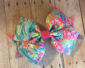 """Lilly Pulitzer Inspired 4.5"""" Bow"""