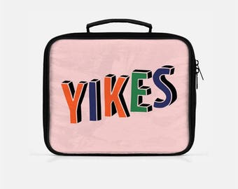 Yikes Lunch Box, Pink Lunch Box, Funny Lunch Box, Lunch Box for Women, Lunch Box Adult, Tumblr Aesthetic, Tumblr Lunch Box
