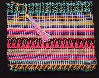 Aztec clutch bag - multi
