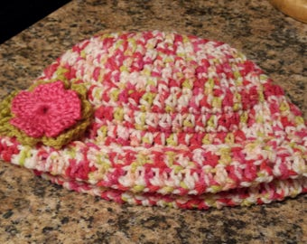 Crocheted lady's hat