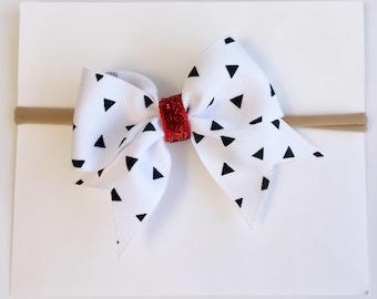 White and black headband