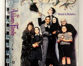 Recycled VHS Original Box Notebook Sketchbook - The ADDAMS FAMILY