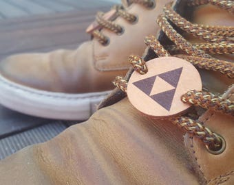 Passing for lace leather TRIFORCE - Made in France - ZELDA TRIFORCE lace locks