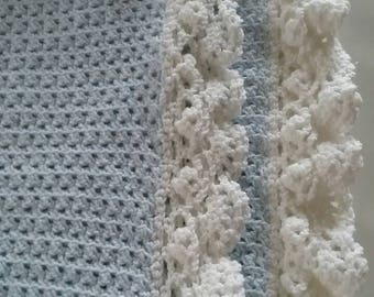 Custom Baby Blanket - Lacey Ruffle - Handmade - Crocheted - Baby Shower Gift