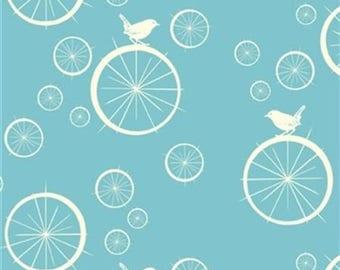 Organic fabric, Mod Basics, Bicycle fabric, Birch organic fabric, Birdie Spokes pool, cycling fabric, Bike fabric, hipster fabric, baby