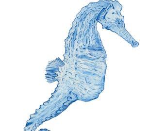 Ltd Edition - A5,A4 & A3 Giclee Print - Original Artwork - Seahorse