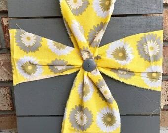 Fabric Button Cross