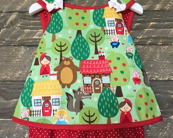 Red Riding Hood Pinafore Sundress