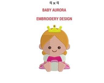 Baby Princess Aurora Embroidery   Sleeping Beauty Embroidery Design   Disney Princess   Disney Embroidery Design   Baby Embroidery Design