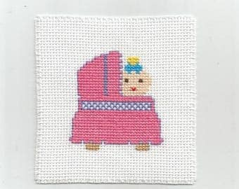 Baby in a crib - Digital pattern - Instant download -Point of croix - Punto cruz - Embroidery pattern - Cross Stitch pattern PDFs