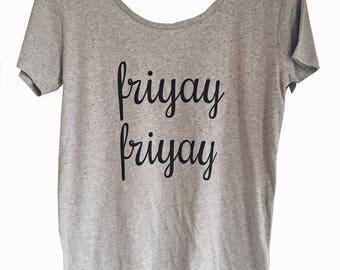 Friyay Grey Marl T-Shirt