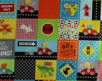 1/2 metre Go Go Dino 'blocks' from Marcus Fabrics