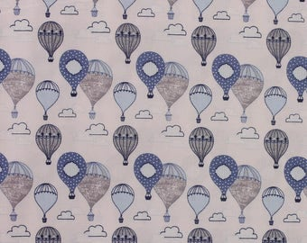1/2 metre of Head in the Clouds 'Hot Air Balloons' by Fabric Freedom