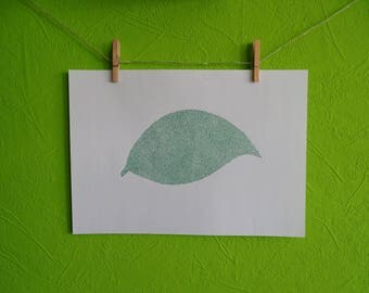 Leaf drawn - hand-drawn graphics