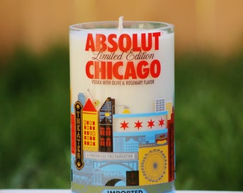 Chicago Absolut Candle