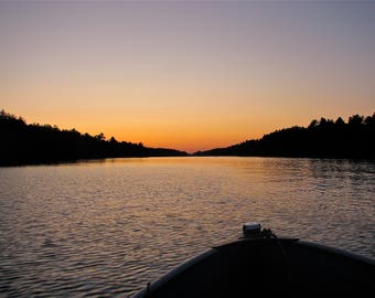 Sunset on Lake Muldrew