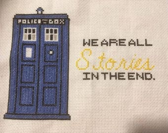 Dr. Who Finished Cross Stitch