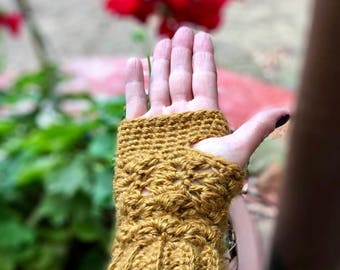 Fingerless Gloves - Hand Crocheted
