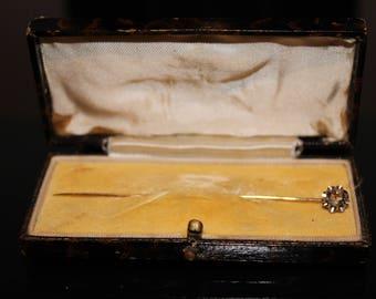 9ct Yellow Gold Old Cut Diamond Stick Pin