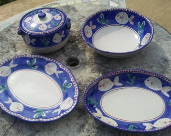 Blue dish, dinnerware collection