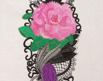 Camellia-AnderS embroidery, embroidery designs in two sizes, machine embroidery, embroidery, decoration, ornament