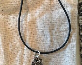 Cat Print Necklace