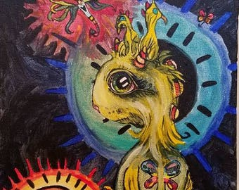 Faerie art, faerie painting, gothic painting, gothic art
