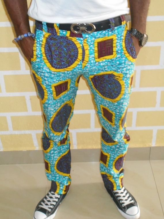 pantalon homme ankara pantalon imprim africain impression. Black Bedroom Furniture Sets. Home Design Ideas