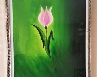 Pink Flower (Original, Hand Painted)