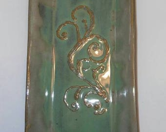 Handmade Handbuilt Stoneware Pottery Platter