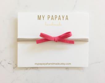 Dainty bow | Felt bow | baby headband | nylon headband | Pick your colors