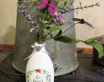 Be Sweet Canister w/flowers