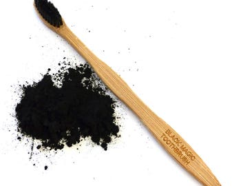 Black Magic Bamboo Toothbrush with Activated Charcoal Bristles * The Natural Cleansing Power of Charcoal in a Toothbrush