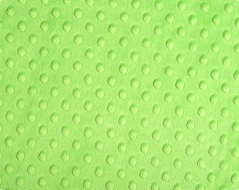 Lime Green Minky Fabric from Shannon Fabrics -Dimple Minky- Perfect for Nursery Baby