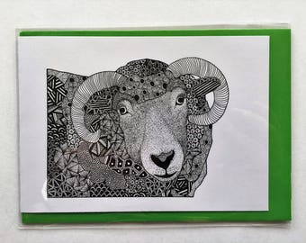 Zentangle Cards - Sheep