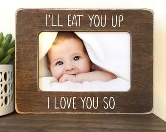 I'll eat you up I love you so Picture Frame // Nursery Decor // Nursery Gift // Where the Wild Things Are Decor