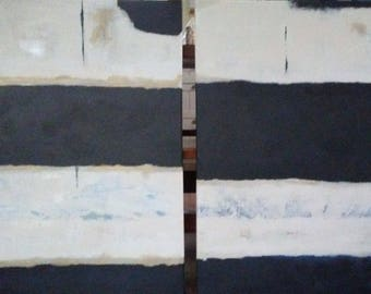 Pair of Original Abstract Paintings, Acrylic on Canvas size 24 x 36 inches each