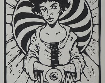 "Limited Edition Woodcut Print ""Katherine"""