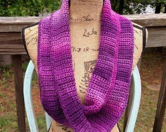 Purple Mermaid Infinity Scarf