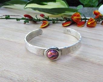 Flower Petal Hammered Bracelet