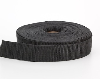 "Polypropylene webbing, 1"" Wide, 10 yds, Black"