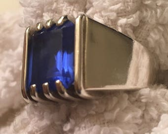 Genuine Tanzanite men's Ring