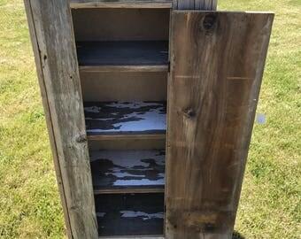 Barn Wood Jelly Cabinet