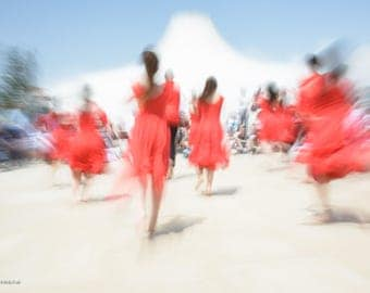 Abstract Jerusalem dancers, Dance photography, Dancers in red # 3