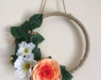 Floral Wreath | Coral Wreath | Boho Wreath