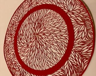 Circle shaped art paper cut