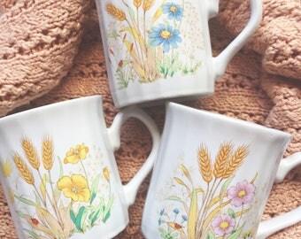 Vintage Flower mugs