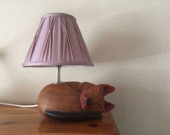 Cat table lamp